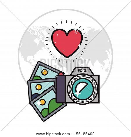 camera and photographs icon image vector illustration design