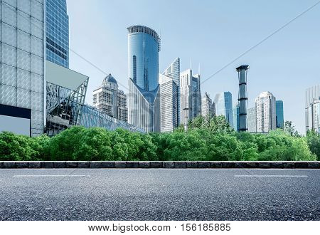 Shanghai urban landscape the Huangpu River landmark