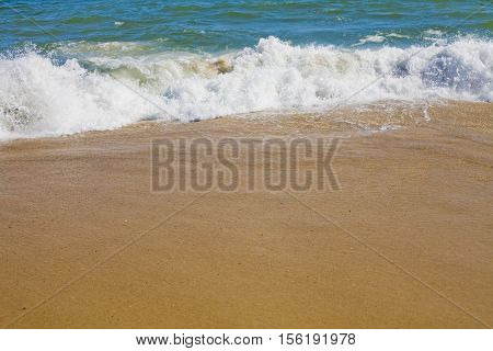 beach and a see in the summertime, nice wether