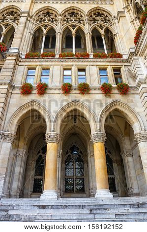 Facade Of City Hall In Vienna, Rathaus, Austria