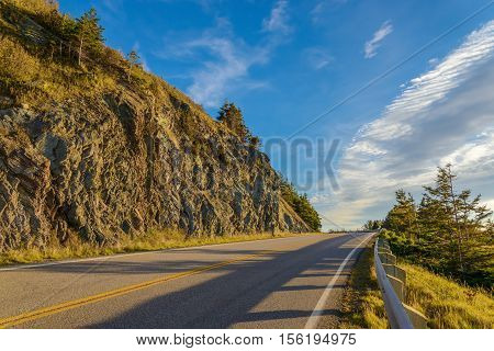 Cabot Trail Scenic view (Cape Breton Nova Scotia Canada)