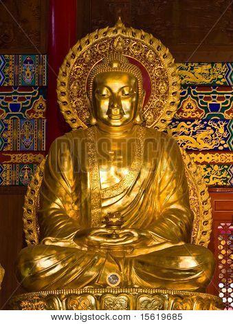 buddha statue in Wat-Leng-Noei-Yi2 at Bang-Bua-Thong Nonthaburi Thailand poster