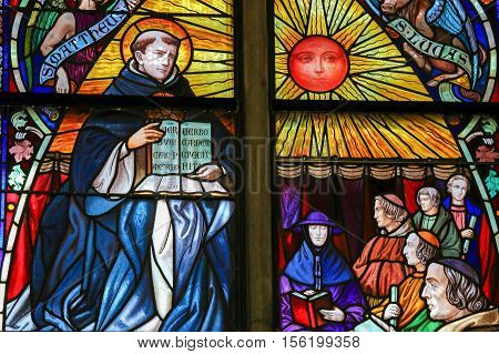 Saint Thomas Aquinas - Stained Glass