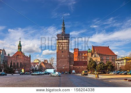 Torture House and Prison Tower in Gdansk Poland.