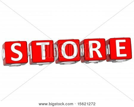 Store Cube Text