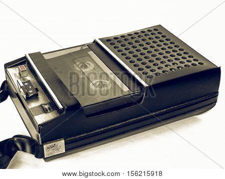 Vintage Looking Tape Cassette Recorder