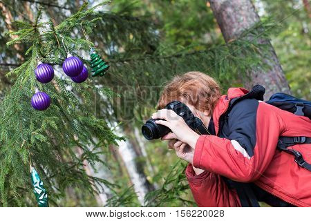 Photographer Makes Pictures Outdoors