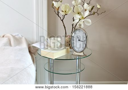 Clock, Book And Cup