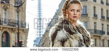 Portrait Of Modern Fashion-monger In Paris, France Looking Aside