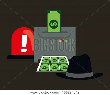 Counterfeiter money icon vector illustration graphic design icon vector illustration graphic design