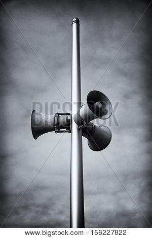 vintage horn speaker for the public relations