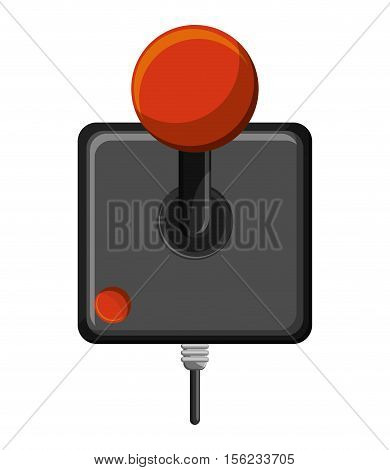 Videogame joystick icon. Game play leisure gaming and controller theme. Isolated design. Vector illustration poster