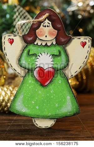 Christmas tree toys angel. christmas decoration handmade toy Angel