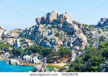 rocks in Capo Testa in Sardinia, Italy