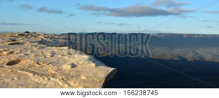 Landscape Of Lincoln Rock Lookout With Grose Valley At Sunrise Blue Mountains Australia