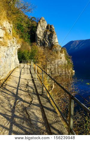 The Footpath From Lugano To The Village Gandria