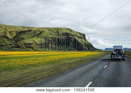 epic Landscape in Iceland street Motorcross MX Adventure