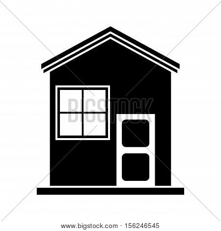 House icon. Home real estate building and residential theme. Isolated design. Vector illustration
