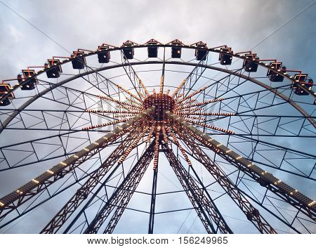 Ferris wheel in Odessa, Ukraine. Entertainment, fun 2