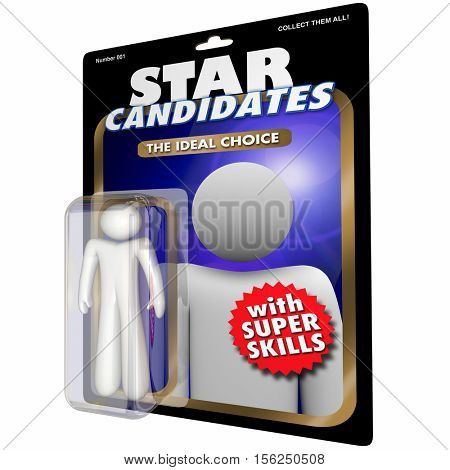 Best Job Candidate Hire New Employee Worker Action Figure 3d Illustration