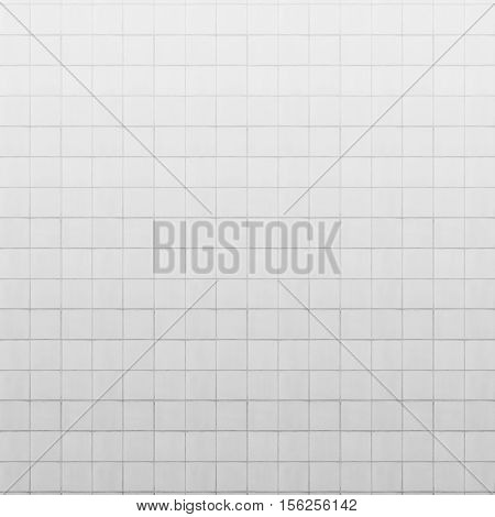 old white tiled wall texture for background