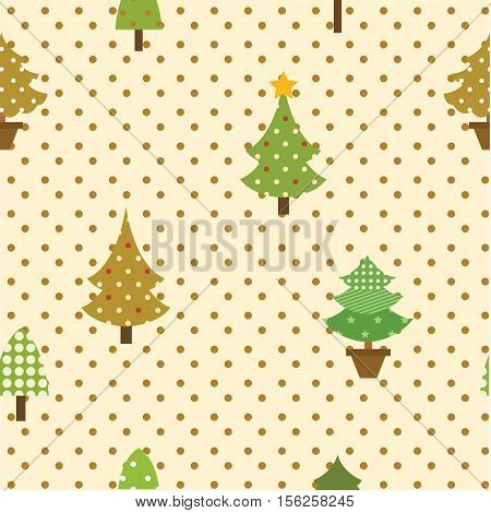 seamless pattern christmas tree for christmas occasion