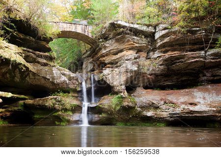 Upper Falls in Hocking Hills State Park near Logan Ohio