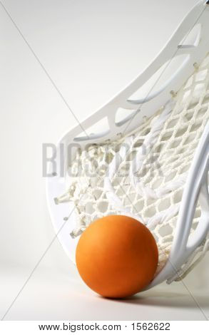 Orange Lacrosse Ball