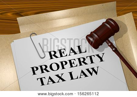 Real Property Tax Law Concept