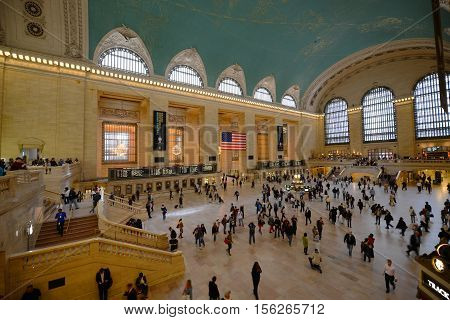 NEW YORK CITY - MAY 6, 2013: Grand Central Terminal Interior of Main Concourse in Manhattan, New York City, USA.