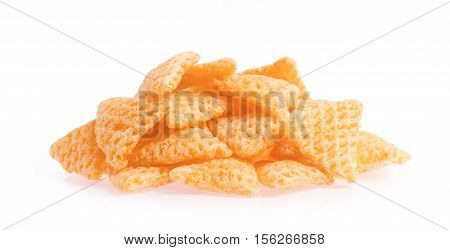 pile snacks isolated on a white background