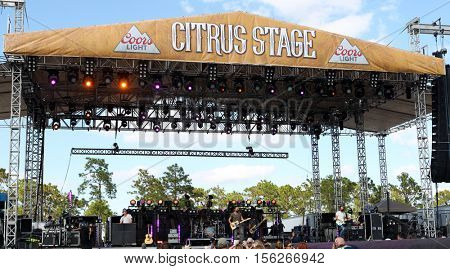 LAKE WALES, FL-NOV 5: Old Dominion performs at the CountryFlo Music and Camping Festival on November 5, 2016 in Lake Wales, Florida.