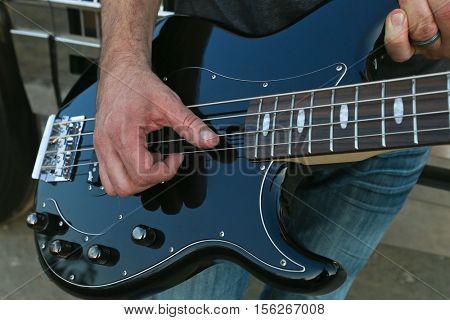 LAKE WALES, FL-NOV 4: A Yamaha guitar seen at the CountryFlo Music and Camping Festival on November 4, 2016 in Lake Wales, Florida.