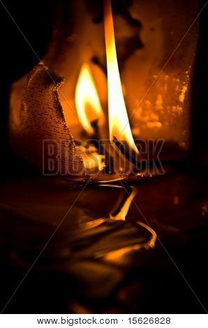 Burned Candle