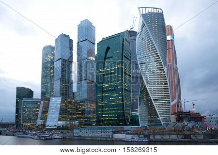 MOSCOW, RUSSIA - APRIL 14, 2015: The business complex