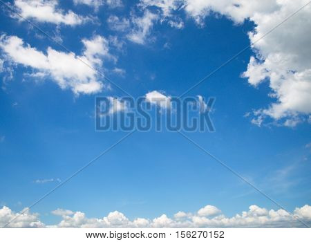 Sky and clouds in the bright blue.