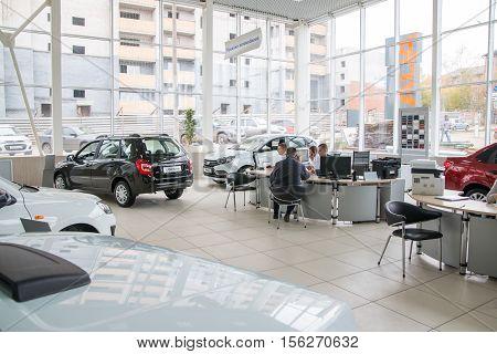 Showroom Of Dealership Of Car Factory Avtovaz In Kirov City