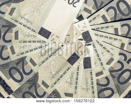 Vintage Twenty Euro Notes