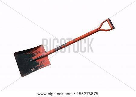 Shovel loader isolated on white(have clipping path),Shovel loader equipment for construction site