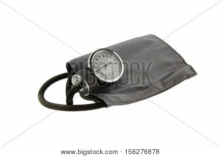Blood pressure meter medical equipment isolated on white(have clipping path)