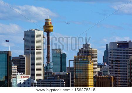 Sydney Central Business District Skyline New South Wales Australia