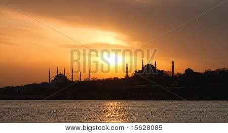 Istanbul on sunset