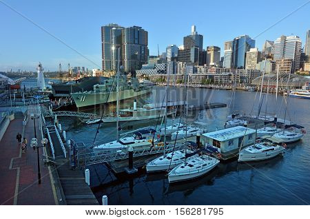 Cityscape Of Darling Harbour Sydney New South Wales Australia