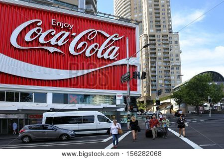 The Coca-cola Billboard Above Kings Cross Station In Sydney, Austra