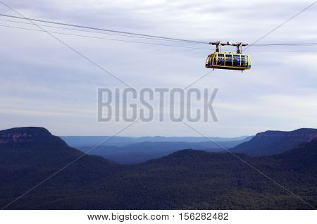 Katoomba Scenic Skyway Travels Across The Gorge Above The Katoomba Falls In New South Wales Australi