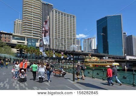Visitors At Sydney Circular Quay Sydney New South Wales Australia