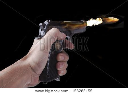 Flying Bullet On Fire