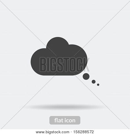 Speech Bubble Icon, Black Vector Is Type Eps10