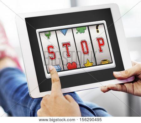 Stop Ending Finish Rest Block Break Close Concept