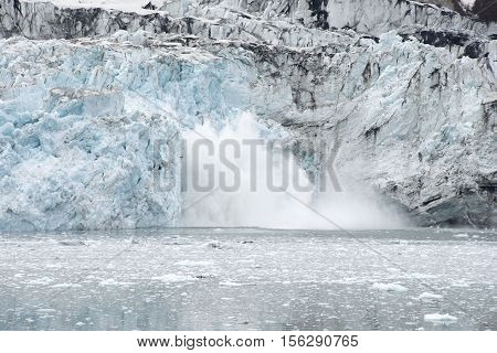Margerie Glacier Calving Glacier Bay National Park Alaska